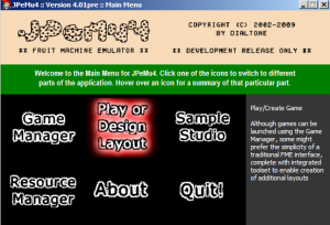 Main Menu of JPeMu v4