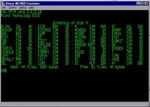 MZ80B CP/M demonstration screenshot