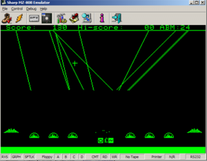MZ80B Game Screenshot - Missile Command