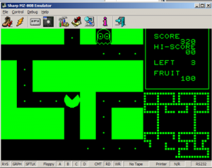 MZ80B Game Screenshot - PacMan #1