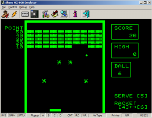 MZ80B Game Screenshot - Arkanoid