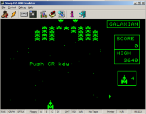 MZ80B Game Screenshot - Galaxian