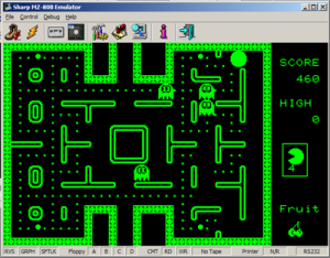 MZ80B Game Screenshot - PacMan #2
