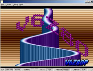 V6Z80P Pipes demo screengrab
