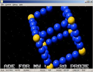 Screengrab of VectorBalls 2 demo